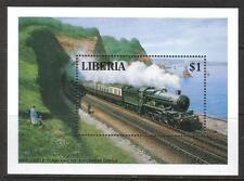 LIBERIA MNH 1994 MS548 TRAINS MINISHEET