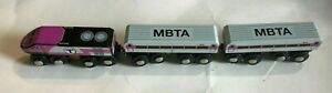 MBTA Massachusetts Transit Bay Authority Wood Wooden Train Set fits BRIO Thomas