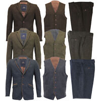 Mens Wool Mix 3 Piece Suits Mareno Blazer Trouser Waistcoat Party Formal Jacket