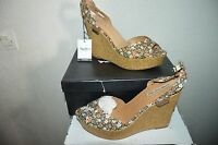 CHAUSSURE SANDALE COMPENSE PEPE JEANS LONDON T 40 SHOES/ZAPATO/SCARPA CUIR  NEUF