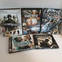 5 PC Games Ghost Recon Medal of Honor Company of Heroes Farcry 2 Armed Forces