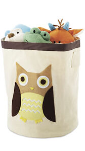 Whitmor Canvas Storage Bin / Tote Brown Owl