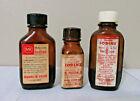 Vtg Iodine Bottles Lot 3 Skull & Cross Bones Poison Labels Ryal McKesson