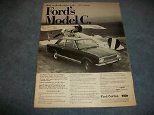 """1967 Ford Cortina GT Model C Vintage Ad """"Rally Bred and Combat Ready"""""""