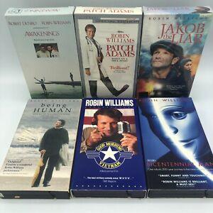 Lot Of 6 Robin Williams VHS Patch Adams/Awakenings/Being Human/Jakob The Liar +