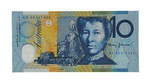 1993 Fraser/Evans $10 Ten Dollars KE Last Prefix Note - UNC, R.316aL D2-4135