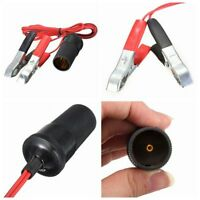 Car Battery Terminal Clip-On Cigar Cigarette Lighter Power Socket Adapter 1.5M
