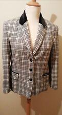 Eugene Klein Jacket Coat. 100% Pure New Wool. UK14 F42. Black & White.