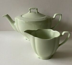 Johnson Bros GREENDAWN Teapot & Milk Jug. Made in England