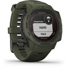 Garmin Instinct Solar Tactical 45mm Faserverstärktes Polymer Gehäuse mit Silikon Armband, GPS-Uhr - Tactical Grün (010-02293-04)