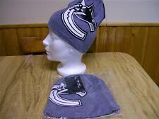 VANCOUVER CANUCKS MENS GREY LICENSED TOQUE NEW W/ TAGS