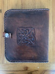 Hand Made Leather Writing Case - Left Handed