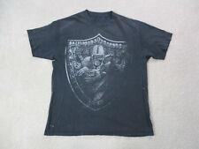 VINTAGE Oakland Raiders Shirt Adult Extra Large Black Gray NFL Football Men 90s*