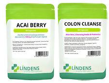 Acai Berry + Colon Cleanse Dimagranti Brucia grassi Detox 240 compresse - 2 mese