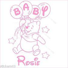 Osito Personalizado De Arte De Pared Niñas O Niños Infantiles la etiqueta engomada, Baby Shower Etc