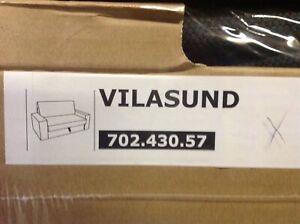 IKEA VILASUND BEZUG FÜR 2er BETTSOFA DANSBO DUNKELGRAU NEU+OVP! 70243057