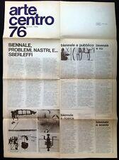 ARTE CENTRO 76 gennaio-marzo. Foglio della Galleria Arte Centro di Milano