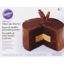 Wilton Mini Tasty-Fill Cake Tin Set, 4 Pcs, Aluminium, Non-Stick, 4x1.25 in. Pan