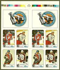 1992-93 Kraft Cheese NHL All-Stars Proof Panel Gretzky, Coffey, Bourque, Chelios