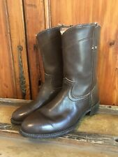 Vintage Orvis Cowboys Western Flat Boots Mens Size 10 Brown Movie Set Retired