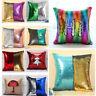 """16"""" Reversible Magic Mermaid Throw Pillow Cover Sofa Cushion Sequin Glitter Case"""
