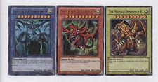 SLIFER / OBELISK / RA - Set of 3 Egyptian God Cards - LC01 Legendary - Yu-Gi-Oh
