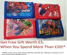 UK Seller Kids Spiderman Wallet Boys avengers Coin Bag Superhero Zip Purse
