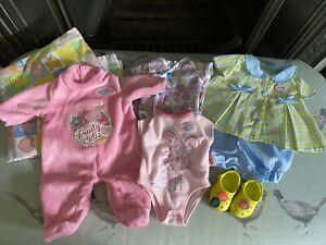 BABY BORN DOLLS CLOTHES / SHOES/ QUILT/ PILLOW