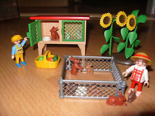 Playmobil 100% Complete Set 3075 - Rabbit Hutch Petting Zoo