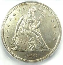 1840 Seated Liberty Silver Dollar $1 - Certified ICG MS62 (UNC BU) - $9380 Value