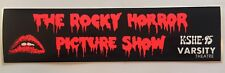 THE ROCKY HORROR PICTURE SHOW | VTG '70s Bumper Sticker K-SHE 95 Varsity Theater
