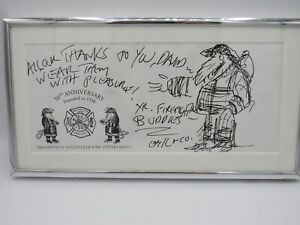 New Yorker Cartoon Edward Koren Original Drawing Firefighter Vermont
