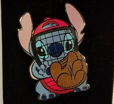 DISNEY AUCTIONS PIN LE DA STITCH BASEBALL CATCHER MASK GLOVE MITT LILO