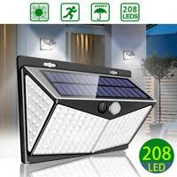 208LED Solar Power Motion Sensor Security Lamp Garden Street Waterproof Light UK