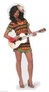 Poncho Mexikaner Mexiko Sambrero Kleid Mexikanerkleid Mexikanerin Cowboy Kostüm