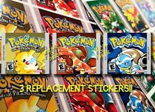 3 Pokemon Gameboy Replacement Labels! HIGH Quality For Red Blue And Yellow! 2016