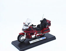 1:18 Welly Honda GOLD WING Motorcycle Motocross Bike Model New In Box Red