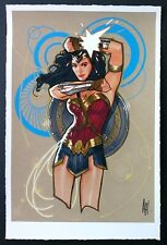 "ADAM HUGHES WONDER WOMAN MUSEUM FINE ART PRINT SIGNED 12""x18"""