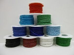 Seed Bead Roll Single Color 10 feet (3 meters) Turquoise Rosette Beading Native