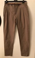 NWT Brunello Cucinelli Cotton Brown Pants  Pockets Belt Sz IT 42 US 6 M