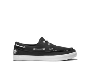 Timberland Classic 2 Eye Boat Black Canvas Shoes for Everyday Style for Men