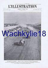 L'illustration 4192 du 07/07/1923 Automobile Clermont-Ferrand Jardins Cannes