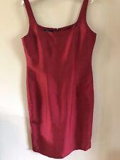 dana buchman silk dress Size 6 Red Clasic Sheath NWOT