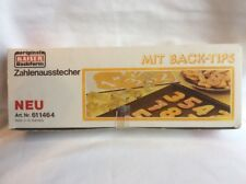Vtg Kaiser Backform Metal MIT Back-tips Cookie Cutters Numbers  West Germany G20