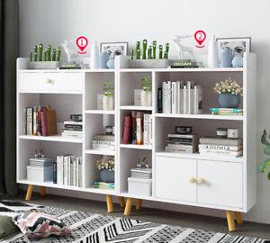 95CM White 4 Cube Bookshelf Kids Bookcase Storage Shelving Display Shelf Unit UK