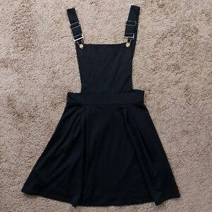 Women Overall dress skirt black small Jumpsuit cute adjustable straps A line New