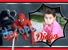 disque azyme A4 personnalisé spiderman gateaux anniversaire enfant