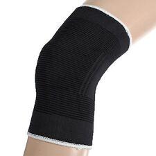 Black Elasticated Knee Patella Support Arthritis Brace Bandage Protection Sport