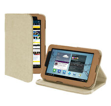 Samsung Galaxy Tab 2 7.0 Tablet Version Stand Hemp Cover Case - Sahara Brown