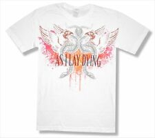 "AS I LAY DYING - ""SNAKES"" STENCIL SOFT WHITE T-SHIRT - NEW ADULT SMALL S"
